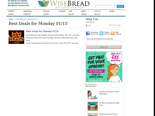 Best Deals for Monday 01/15