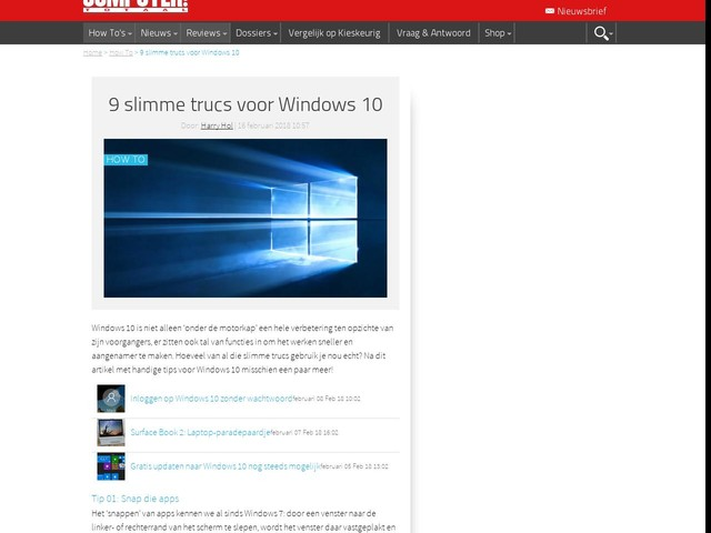 9 slimme trucs voor Windows 10