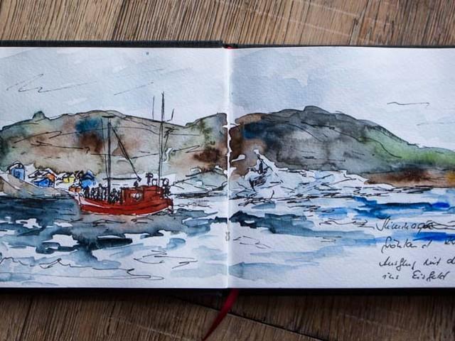 Ausflug mit den Fischerbooten ins Eisfeld von Ilimanaq