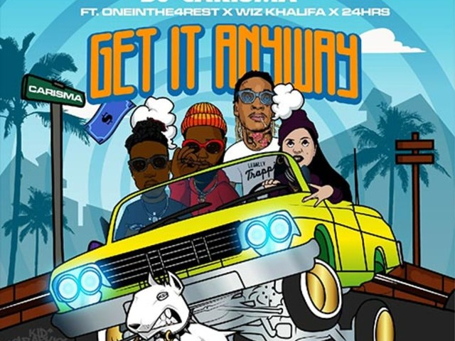 """DJ Carisma – """"By Any Means"""" f. Wiz Khalifa, One in the 4 Rest & 24hrs"""