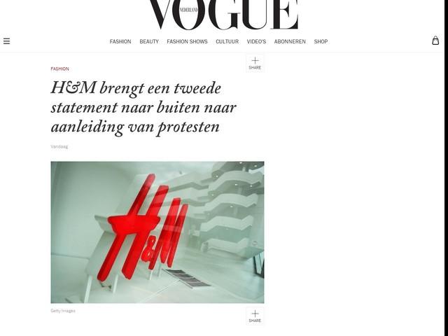 H&M brengt een tweede statement naar buiten naar aanleiding van protesten