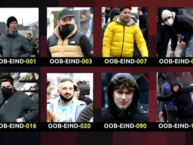 Afgebeelde relschoppers in Eindhoven hebben zich nog niet gemeld