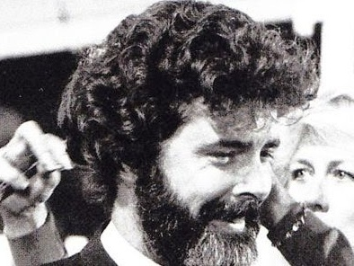 Photo of the Day - George Lucas Getting Ready For His Cameo In Indiana Jones and the Temple of Doom