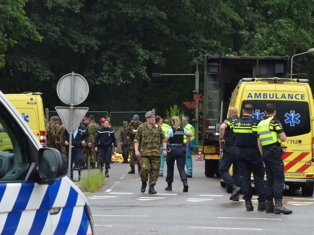 Veertien gewonden na blikseminslag op een militair oefenterrein in Ossendrecht