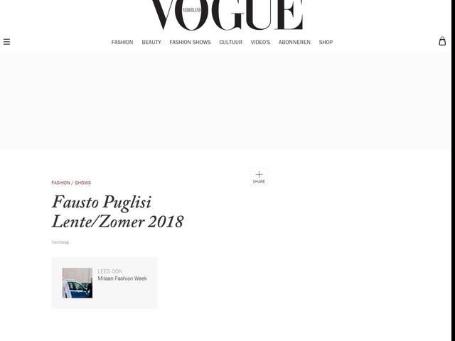 Fausto Puglisi Lente/Zomer 2018