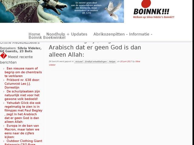 Yehudah Glick die ook regelmatig te zien is in filmpjes met Paul Begley , zegt In het Arabisch dat er geen God is dan alleen Allah: