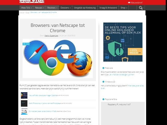 Browsers: van Netscape tot Chrome