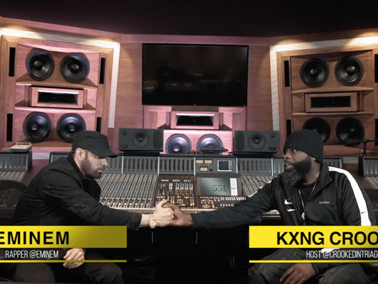 Eminem Sits Down with KXNG Crooked on 'Crook's Corner'