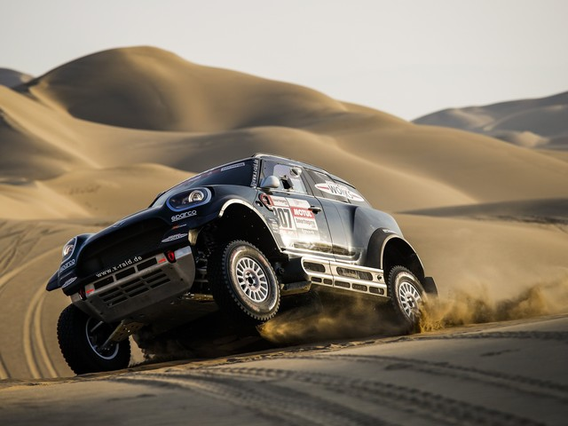 Peterhansel Wins Third Dakar Stage in His MINI JCW Buggy