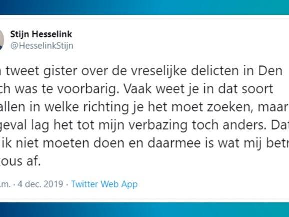Ook ophef om excuses Forum-Statenlid Hesselink uit Albergen over groepsverkrachting