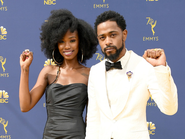 Blackity Black In Love: Lakeith Stanfield & Xosha Roquemore Dripped Carefree Deliciousness On The 2018 Emmys