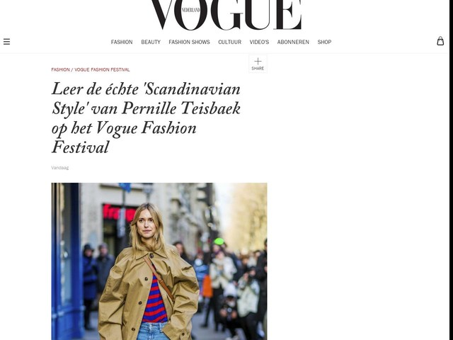 Leer de échte 'Scandinavian Style' van Pernille Teisbaek op het Vogue Fashion Festival