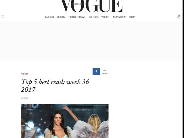 Top 5 best read: week 36 2017