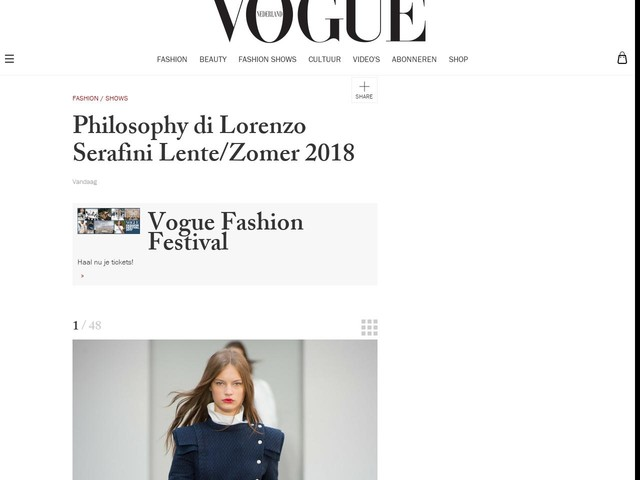 Philosophy di Lorenzo Serafini Lente/Zomer 2018