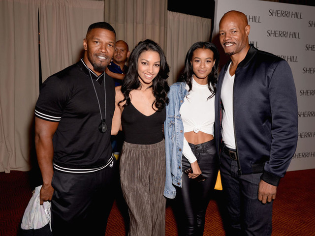 In Living Color: Keenan Ivory Wayans And Jamie Foxx Reunite At Daughters' NYFW Show
