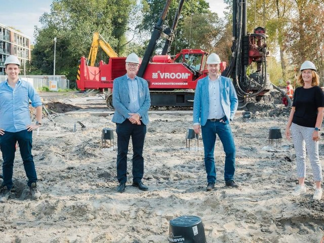 Start bouw duurzame appartementen in Den Haag