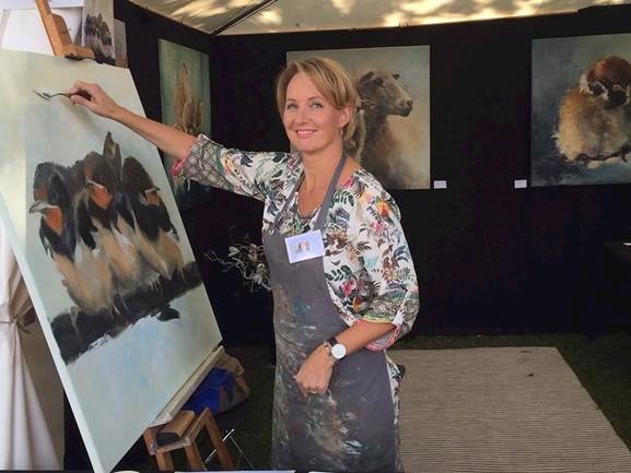 """Kunstmarkt Ootmarsum: """"Heerlijk om op zo'n evenement te schilderen"""""""