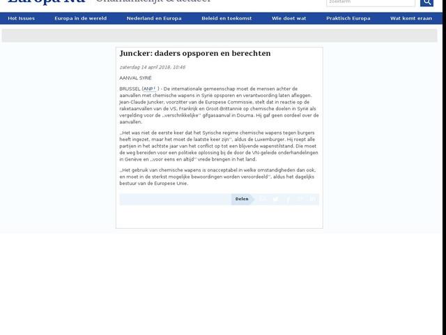Juncker: daders opsporen en berechten