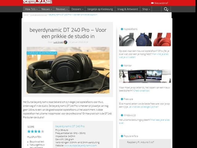 beyerdynamic DT 240 Pro – Voor een prikkie de studio in