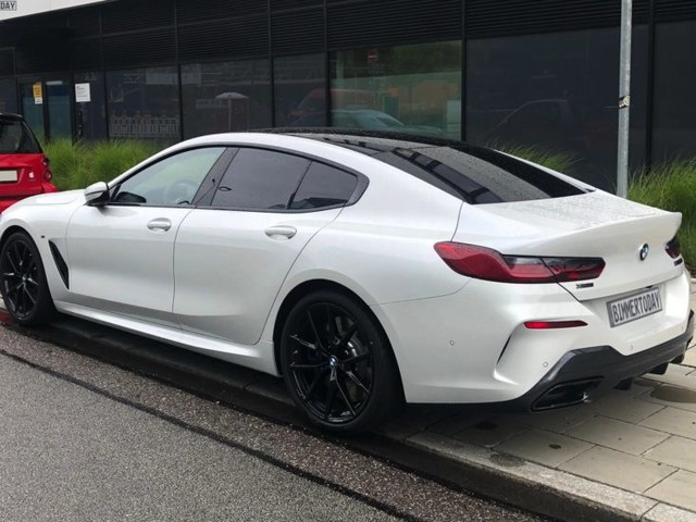 BMW 8 Series Gran Coupe out in the open in Alpine White