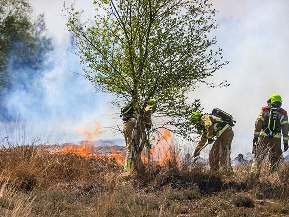 Grote brand in droog natuurgebied Deurnese Peel, rookoverlast duurt nog lang