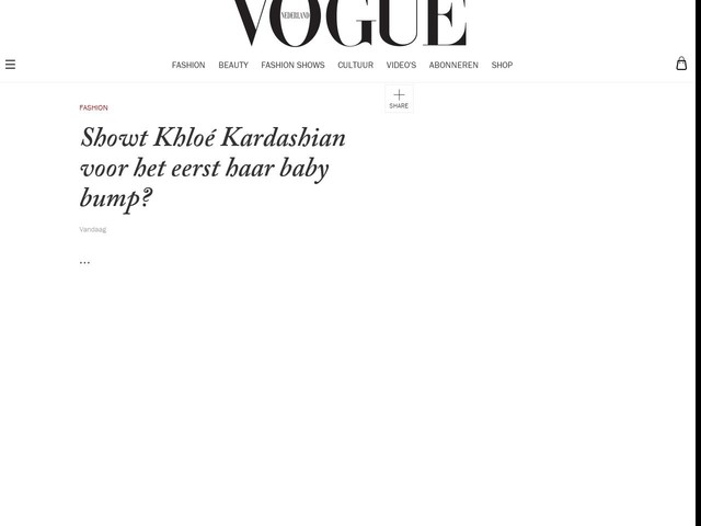 Showt Khloé Kardashian voor het eerst haar baby bump?