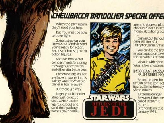 Vintage Advert For Chewbacca's Bandolier