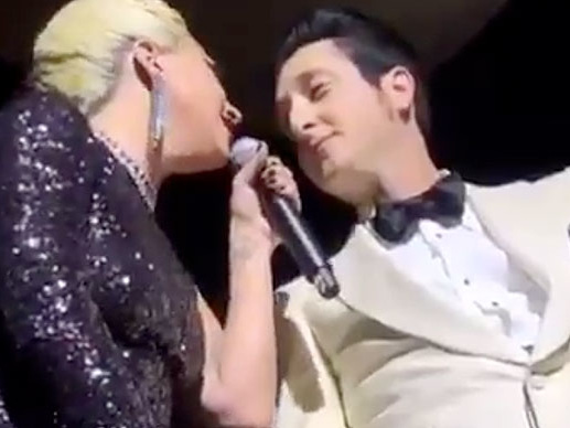 Lady Gaga Kisses Married Musician On Stage During Vegas Performance!