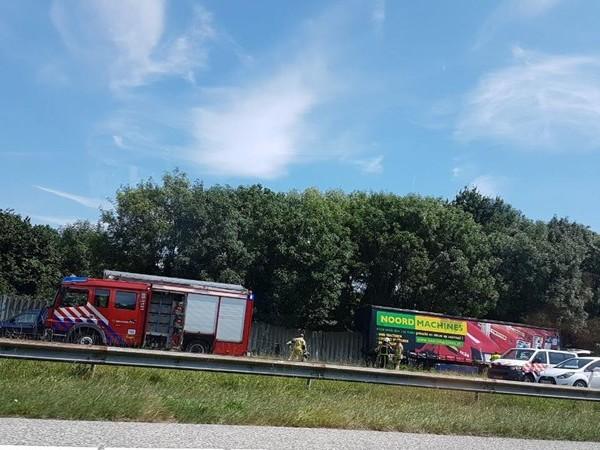 A35 tussen Hengelo en Almelo bij afslag Delden afgesloten na ongeluk (UPDATE)