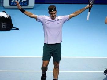 Federer ook voor Cilic ongrijpbaar