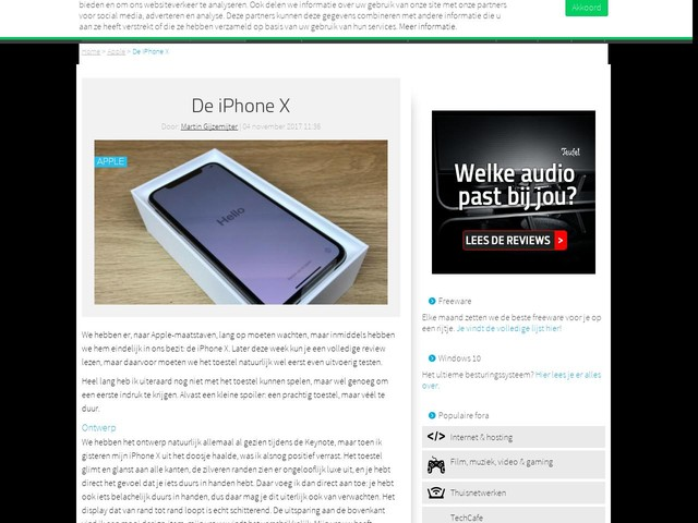 De iPhone X