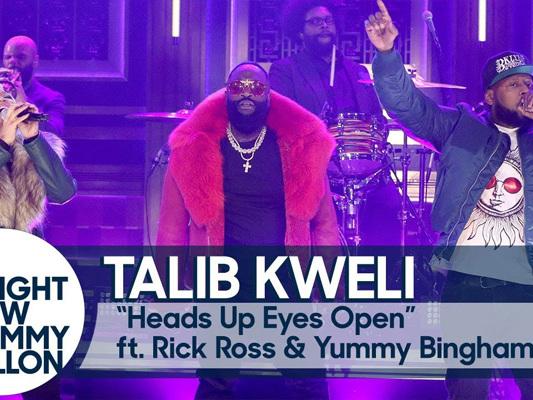 Talib Kweli, Rick Ross, Yummy Bingham & The Roots Perform On 'The Tonight Show'