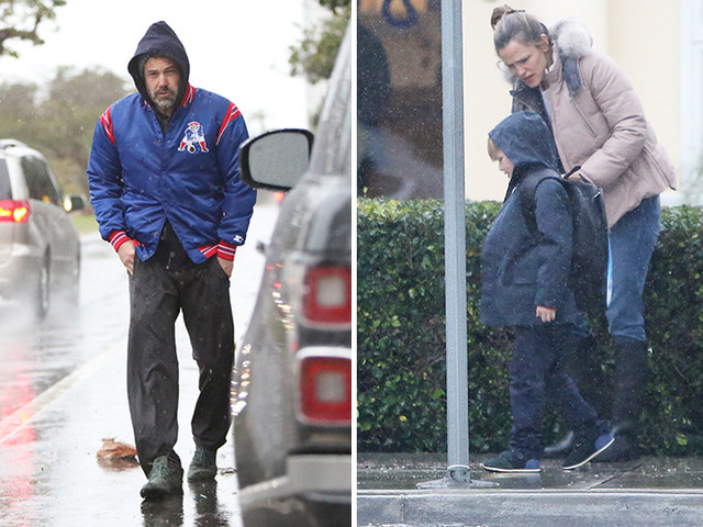 Ben And Jen Brave The Rain With Son Samuel