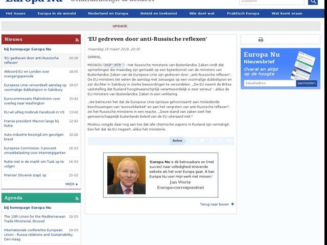 'EU gedreven door anti-Russische reflexen'