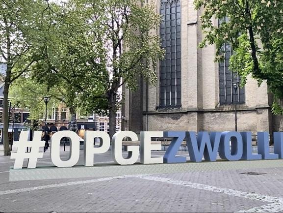 #OPGEZWOLLE wordt virtuele landmark met behulp van app