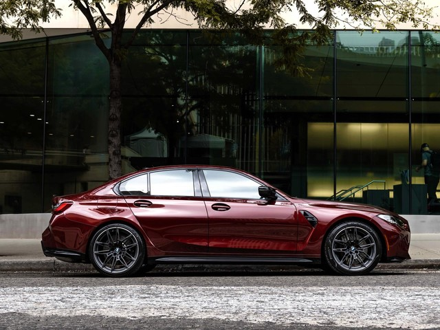G80 BMW M3 gets a special BMW Individual color: Aventurine Red