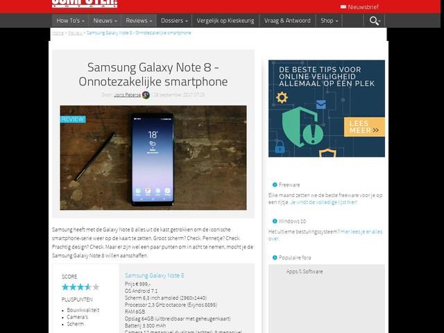 Samsung Galaxy Note 8 - Onnotezakelijke smartphone