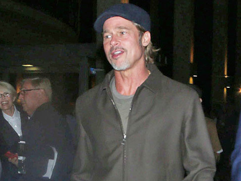 Brad Pitt Goes To The Theater On Date Night ... Without A Date!