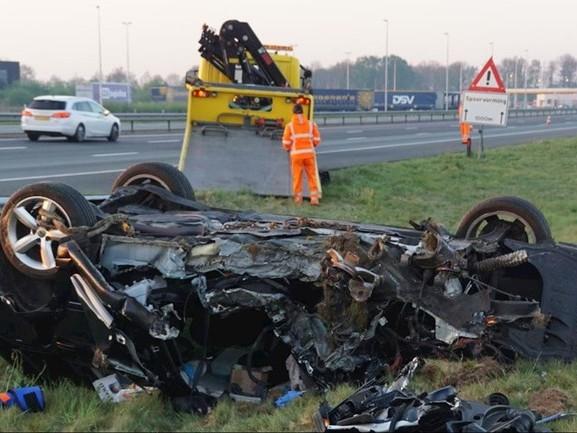 Dode door eenzijdig ongeluk op A28 bij Staphorst