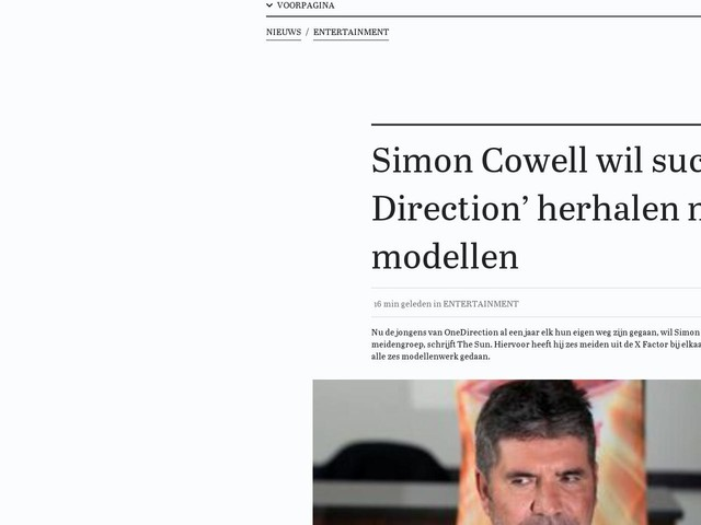 Simon Cowell wil succes 'One Direction' herhalen met modellen