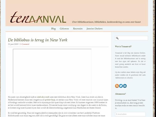 De bibliobus is terug in New York