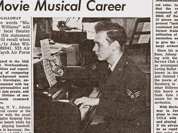 Photo of the day - Newspaper article from 1954 on John Williams