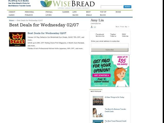 Best Deals for Wednesday 02/07