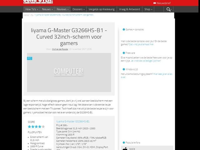 Iiyama G-Master G3266HS-B1 - Curved 32inch-scherm voor gamers
