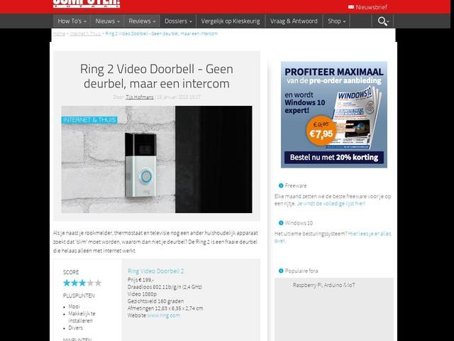 Ring 2 Video Doorbell - Geen deurbel, maar een intercom