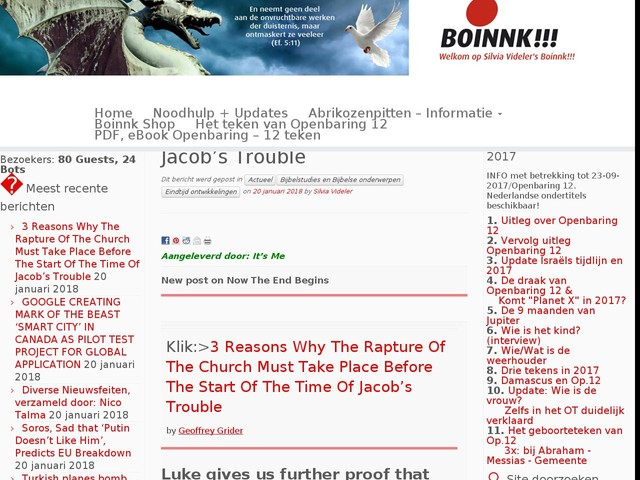 3 Reasons Why The Rapture Of The Church Must Take Place Before The Start Of The Time Of Jacob's Trouble