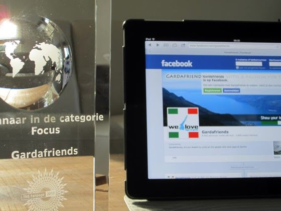 Gardafriends winnaar Fanpage Award