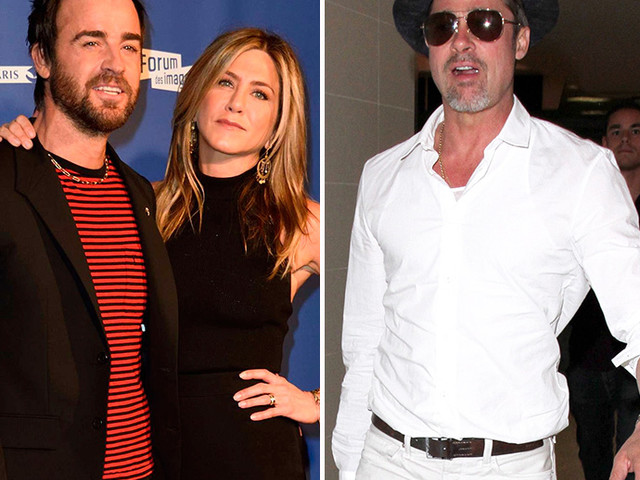Report: Justin Theroux Found Old Love Notes To Wife Jen Aniston From Brad Pitt During Their Marriage