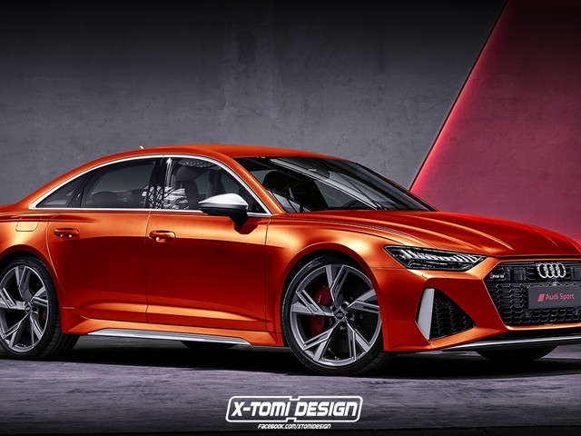 Future BMW M5 Rival: Audi RS6 Sedan Rendered