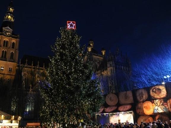 Weekend wordt tropisch, maar Den Bosch kijkt uit naar Winterparadijs: Joris' Kerstboom komt terug